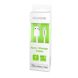 ADATA MFI Lightning USB kabel til iPhone - Hvid - 1 meter