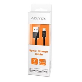 ADATA MFI Lightning USB kabel til iPhone - Sort - 1 meter