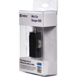 Sandberg iPad iPhone bil oplader USB 2.1A