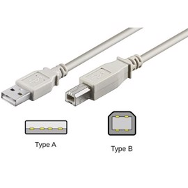 Printer kabel USB 2.0 USB-A til USB-B - 1,8 meter