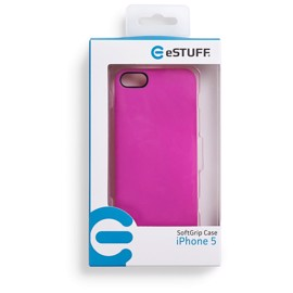eSTUFF iPhone 5 SoftGrip Case - Pink